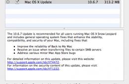 OS X 10.6.7 update screen