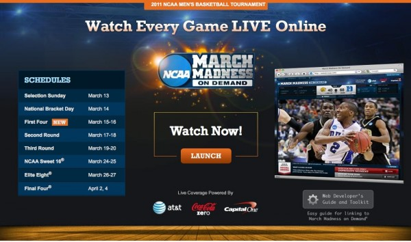 Warch March Madness on Demeand on your iPad
