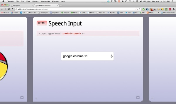 Speech Input in Chrome 11