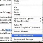 Right Click for Quick Definitions