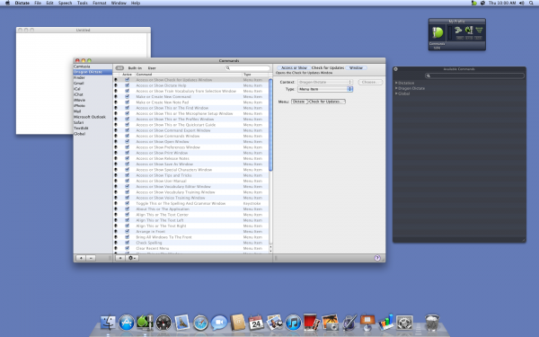 Dragon Dictate for Mac Voice Commands