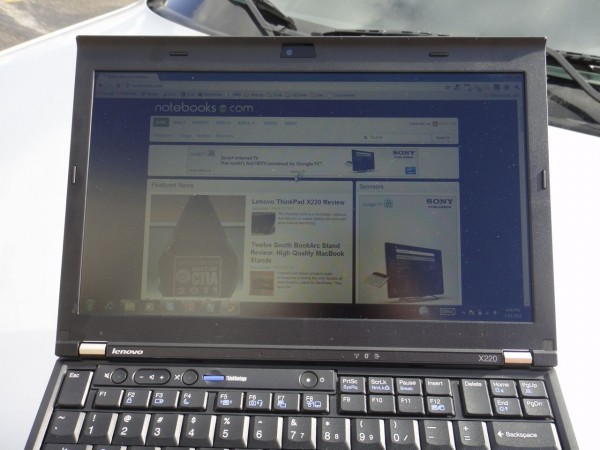X220 IPS Display Outdoor Head On 2