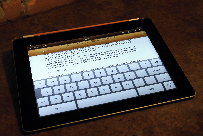 virtual keyboard on ipad