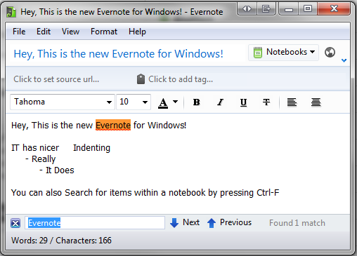Evernote Search word count and more