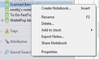 Evernote Notebook Sharing Windows