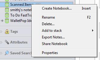 Evernote Notebook Sharing Windows