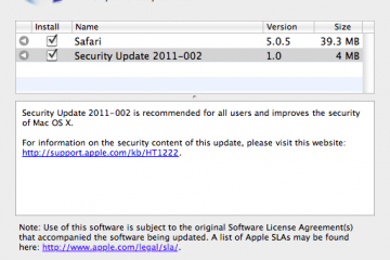 OS X Security update