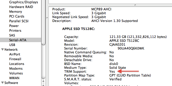 How To Enable SSD TRIM Support in OS X