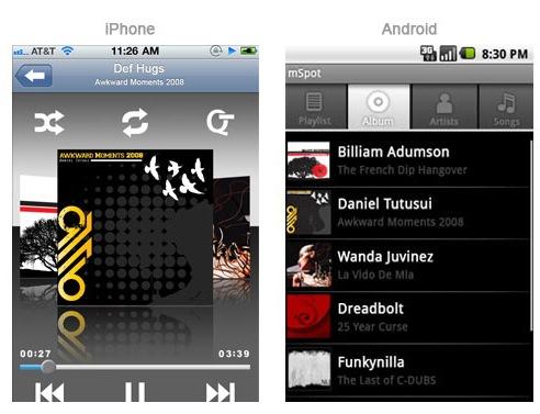 mSpot Mobile Apps