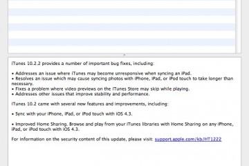iTunes Update 10.2.2