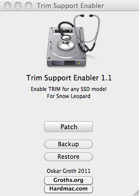 Trim Support Enabler Mac OS X