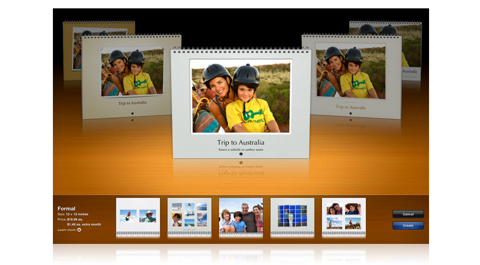 Apple iPhoto Print Calendars