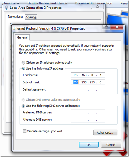 IP Address in Windows 7