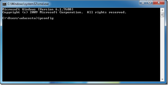 IP from Command Line