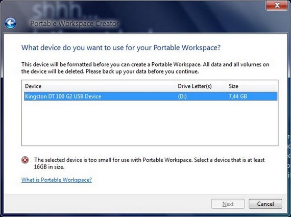 Portable Workstations in Windows 8