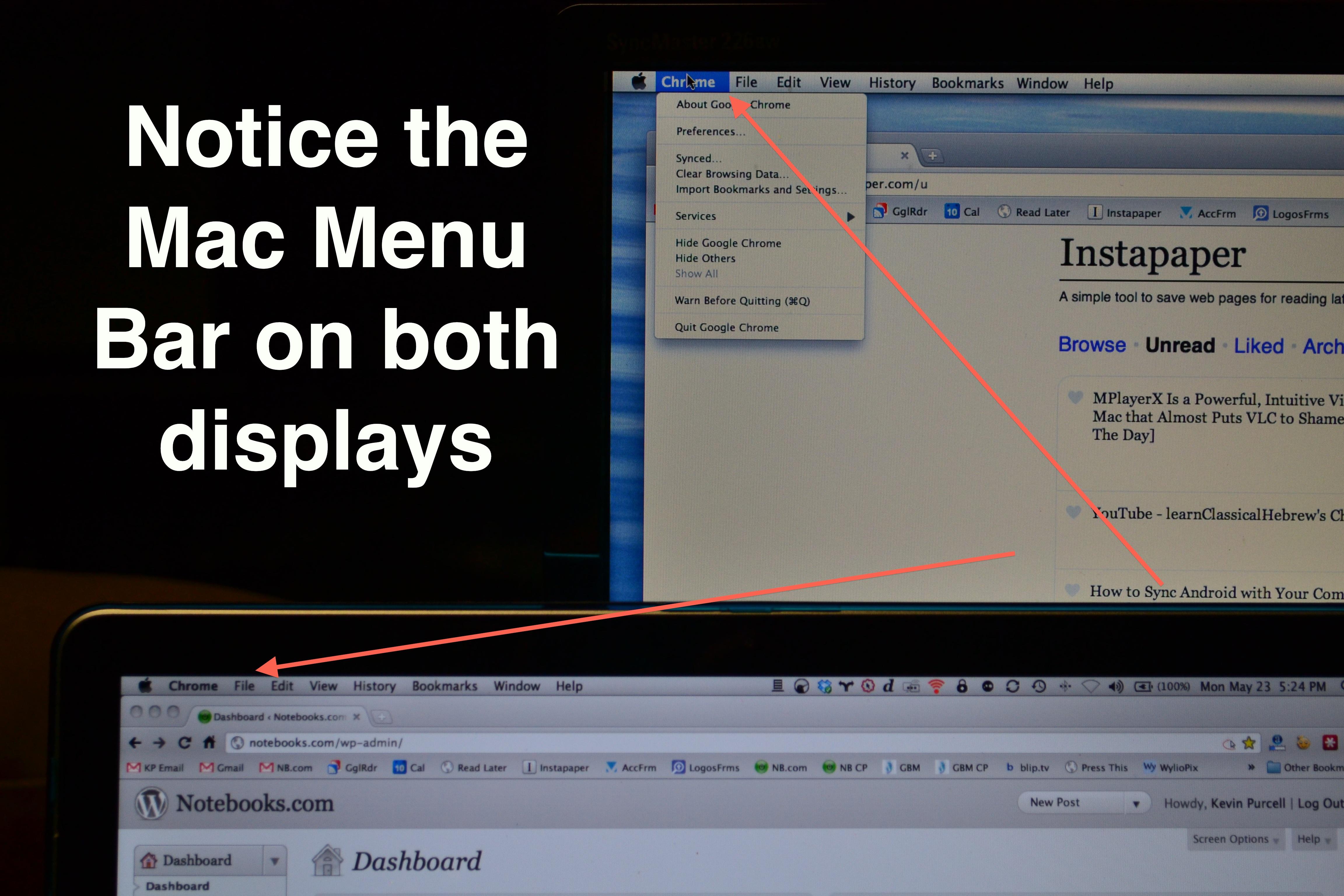 MenuEverywhere puts Mac Menu Bar on Every Display or Window