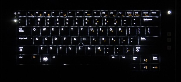 Dell Latitude E5420 review - backlit keyboard