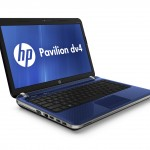 HP Pavilion dv4, pacific blue, front left open