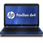 HP Pavilion dv4, pacific blue, front open