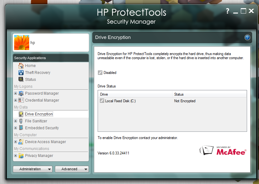 HP ProtectTools Embedded Security Driver Download