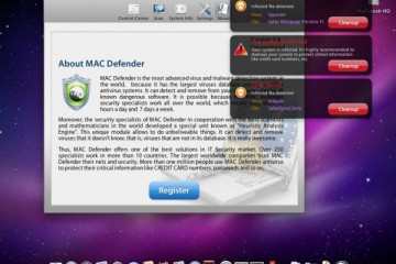 MacDefender Alert Screen