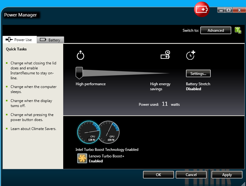 Lenovo ThinkPad X1 Carbon Power Manager Treiber Windows XP