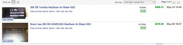 eBay SSD sales