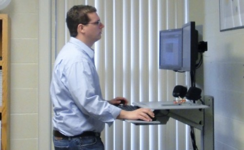 WorkFit c review standing desk