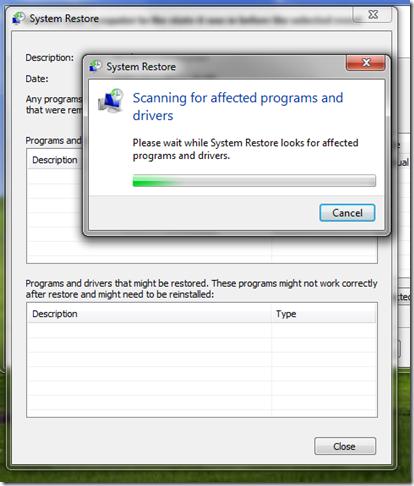 Windows Vista System Restore