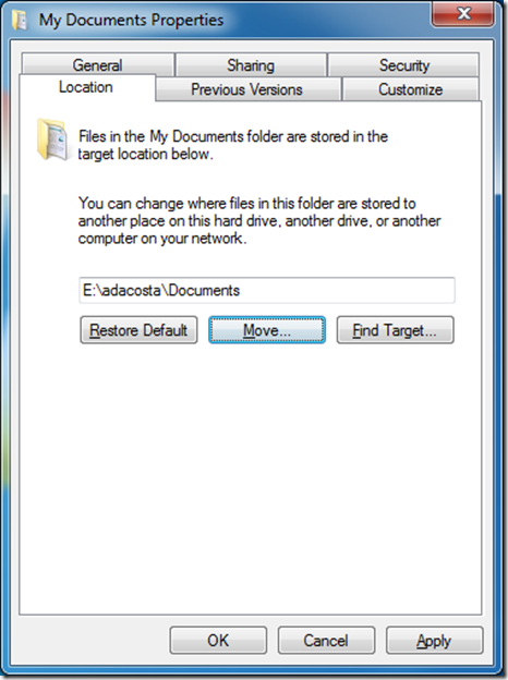 How to change My Pictures folder location
