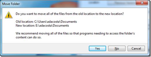 Change Folder Location