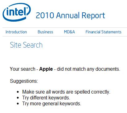apple annual report 2010