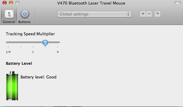 Logitech V470 Driver software battery indicator