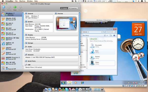 Virtual Box running Windows on a Mac