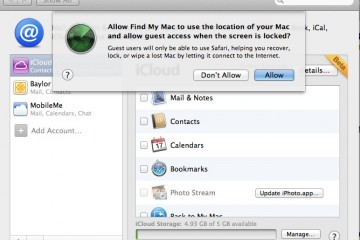 Find My Mac in OS X Lion