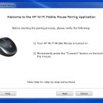 HP Mobile WiFI Mouse Pairing