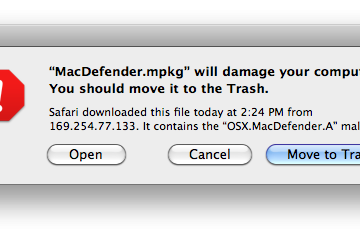 OS X Security Warning