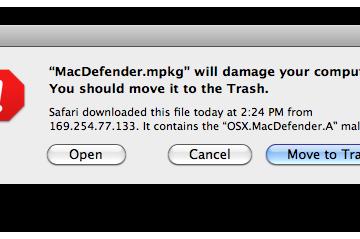 OS X Security Warning
