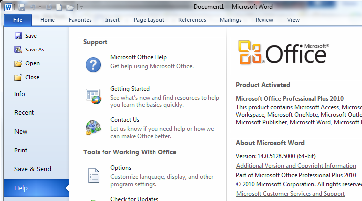 microsoft office professional 2010 download full version