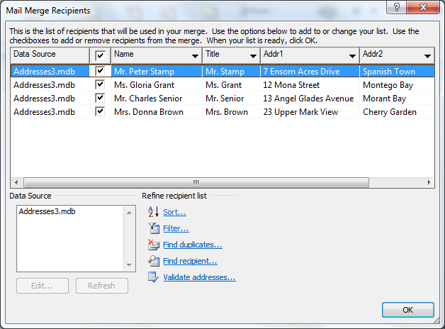 How to Create a Mail Merge Document Using Microsoft Word