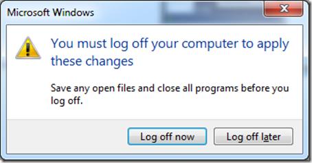 Windows restart prompt