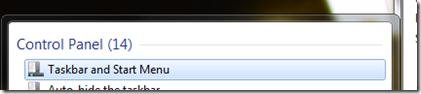 Windows 7 taskbar options