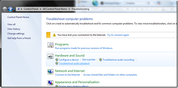 Windows troubleshooters