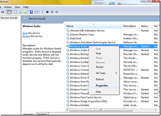 Windows 7 Audio Services