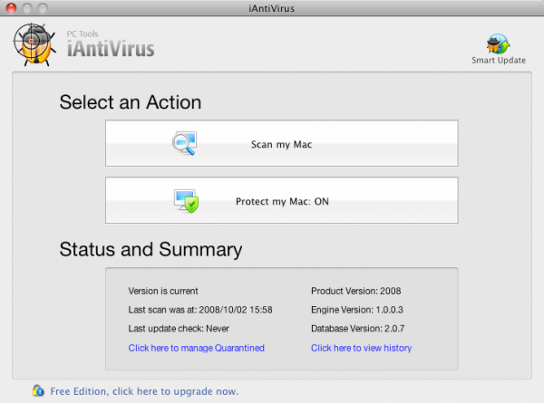 iAntiVirus from PC Tools
