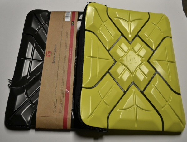 The Extreme Sleeve case comes in black or yellow