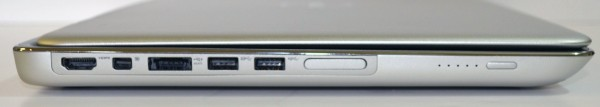 Dell XPS 15z left side ports