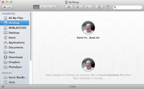 Air Drop in OS X Lion