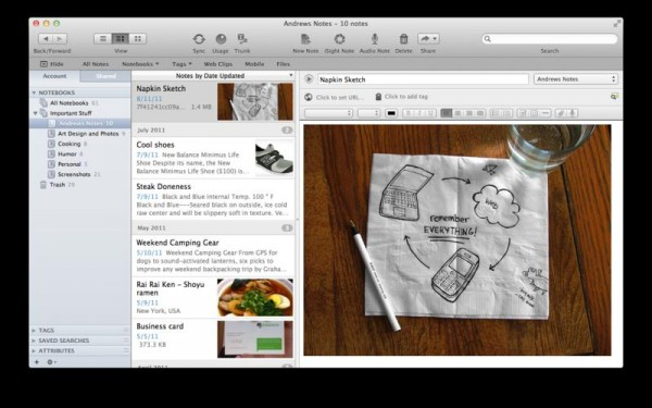 Evernote Mac App