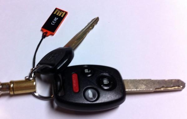 Tuff N Tiny USB Flash Drive on Keychain
